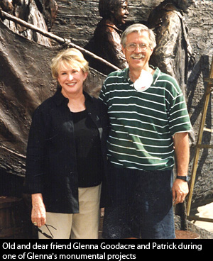 Glenna Goodacre and Patrick Kipper